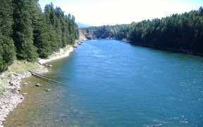 Clark Fork River below Cabinet Gorge Dam - USGS file photo