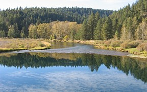 Coeur d'Alene River at Cataldo, ID - USGS file photo