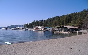 Coeur d'Alene Lake at Coeur d'Alene, ID - USGS file photo