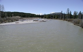 Pacific Creek at Moran, WY - USGS file photo