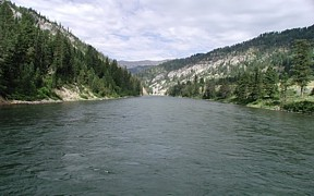 Snake River above Reservoir near Alpine, WY - USGS file photo