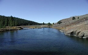 Falls River above Yellowstone Canal near Squirrel, ID - USGS file photo