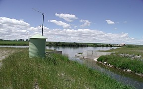 Willow Creek Floodway Channel at mouth near Idaho Falls, ID - USGS file photo