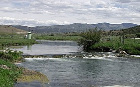 Portneuf River at Topaz, ID - USGS file photo