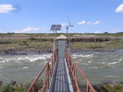 Snake River Gaging Station at Milner, ID -Hi Flow - USGS file photo