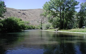 Big Lost River below Mackay Reservoir near Mackay, ID - USGS file photo