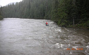 NF Clearwater River near Canyon Ranger Station ID - USGS file photo - high flows May 2008