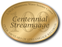 Minnesota Centennial Streamgage - Celebrating Over 100 years of Streamflow Records